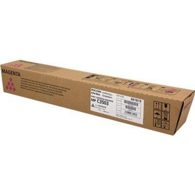 Тонер-картридж Ricoh тип MP C3503 малиновый (841819)Тонер-картриджи для лазерных аппаратов Ricoh<br>Ресурс по ISO: 18000; Ёмкость: Стандартный; Цвет: Пурпурный<br>MP C3003, C3003SP, C3003ZSP, C3503, C3503SP, C3503ZSP<br>