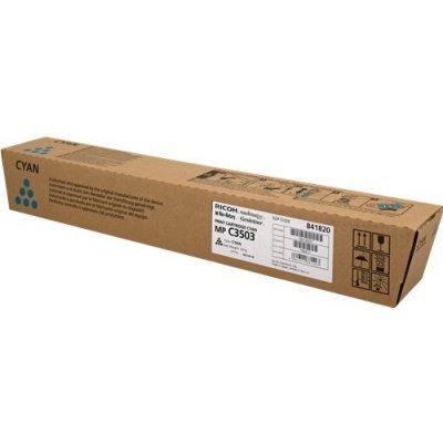 Тонер-картридж Ricoh тип MP C3503 голубой (841820)Тонер-картриджи для лазерных аппаратов Ricoh<br>Ресурс по ISO: 18000; Ёмкость: Стандартный; Цвет: Голубой<br>