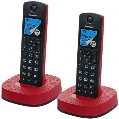 Радиотелефон Panasonic KX-TGC312 черно-красный (KX-TGC312RUR) радиотелефон dect panasonic kx tg6722rub черный