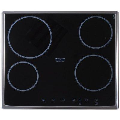 Электрическая варочная панель Hotpoint-Ariston 7HKRD 640 X RU/HA (7HKRD 640 X RU/HA)Электрические варочные панели Hotpoint-Ariston<br>4.8x59x52 см, стеклокерамика, независимая, черная, рамка из нержавеющей стали<br>