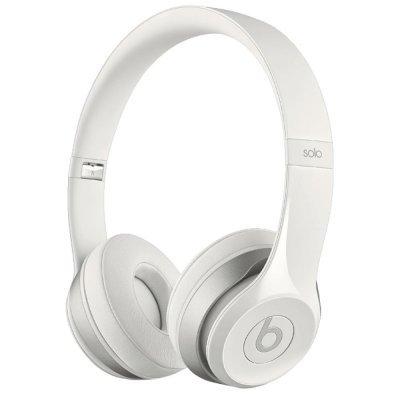 Наушники Beats Solo 2 белые (848447012619)Наушники Beats<br>накладные наушники с микрофоном<br>    поддержка iPhone<br>    регулятор громкости<br>    разъём mini jack 3.5 mm<br>    длина провода 1.361 м<br>    вес 205 г<br>    складная конструкция<br>