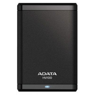 Внешний жесткий диск A-Data HV100 1TB черный (AHV100-1TU3-CBK)Внешние жесткие диски A-Data<br>внешний жесткий диск<br>    объем 1000 Гб<br>    интерфейс USB 3.0<br>    вес 152 г<br>