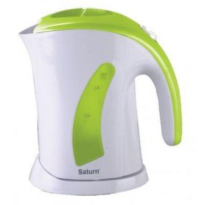 Электрический чайник Saturn ST-EK0002 белый/зеленый (ST-EK 0002 W/Green)Электрические чайники Saturn <br>Тип<br>    чайник <br><br>Объем<br>    1.7 л <br><br>Мощность<br>    2000 Вт <br><br>Тип нагревательного элемента<br>    открытая спираль <br><br>Материал корпуса<br>    пластик <br><br>Особенности<br><br>Безопасность<br>    блокировка крышки, блокировка включения без воды <br><br>Фильтр<br>    есть <br><br>Индикатор уровня воды<br>    есть <br><br>Отсек для шнура<br>    есть <br><br> ...<br>
