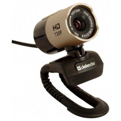 Веб-камера Defender G-lens 2577 HD720p (63177)Веб-камеры Defender<br>Веб-камера Defender G-lens 2577 HD720p /сенс 2МП/обз.56°/микр./USB 2.0/фокус ручн./фото/ун. крепл./линза 5-т сл./HDвидео<br>