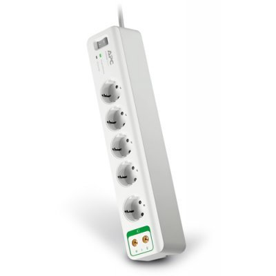 Сетевой фильтр APCEssential SurgeArrest 5 outlets with coax protection 230V  (PM5V-RS) (PM5V-RS)