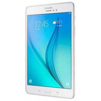 Планшетный ПК Samsung GALAXY Tab A 8.0 LTE 16GB белый (SM-T355NZWASER)Планшетные ПК Samsung<br>планшет с Android 5.0<br>    экран 8, 1024x768<br>    встроенная память 16 Гб<br>    поддержка карт памяти microSDXC<br>    связь по Wi-Fi, Bluetooth, 3G, LTE<br>    навигация GPS, ГЛОНАСС<br>    вес 320 г<br>    тыловая камера 5 млн пикс.<br>    фронтальная камера 2 млн пикс.<br>
