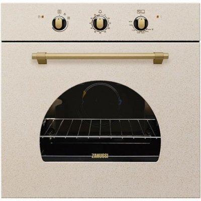 Газовый духовой шкаф Zanussi ZOG511217S (ZOG511217S)Газовые духовые шкафы Zanussi<br>Встраиваемые газовые духовки ZANUSSI/ 59 х 59.4 x 56, электрический гриль, звуковой таймер, песочный цвет<br>