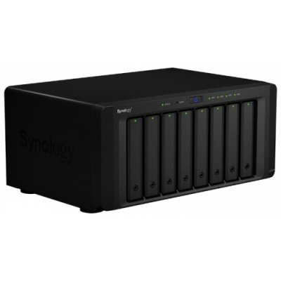 Сетевой накопитель NAS Synology DS2015xs (DS2015XS)Сетевые накопители NAS Synology<br>Synology DiskStation DS2015xs QC1,7GhzCPU/4Gb DDR3/RAID0,1,10,5,5+spare,6/up to 8hot plug HDDs SATA(3,5&amp;amp;#039; or 2,5&amp;amp;#039;) (up to 20 with 2xDX1215/6xUSB/2eSATA/2GigEth/iSCSI/2x10GbESFP+/2xIPcam(up to 40)/1xPS<br>