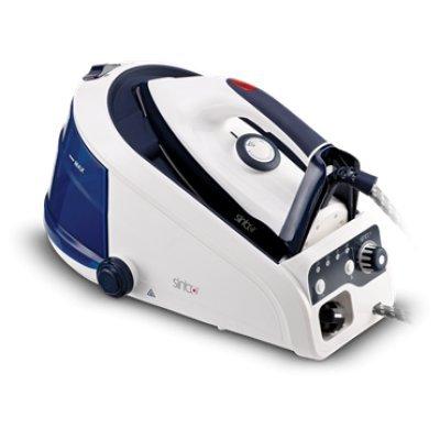 Утюг Sinbo SSI 2885 (SSI 2885)Утюги Sinbo<br>Цвет утюга: белый/синий; Мощность: 2400 Вт; Подошва утюга: керамическая; Мерный стакан: ДА; Особенности: Световой индикатор работы, терморегулятор<br>