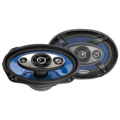 Колонки автомобильные Soundmax SM-CSC694 (SM-CSC694)Колонки автомобильные Soundmax<br>четырехполосная коаксиальная АС<br>    типоразмер: овальный 15x23 см (6x9 дюйм.)<br>    номинальная мощность 120 Вт<br>    максимальная мощность 240 Вт<br>    чувствительность 92 дБ<br>    импеданс 4 Ом<br>    диапазон частот 45 - 20000 Гц<br>