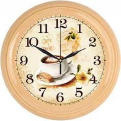 Часы настенные Вега П 6-14-102 Кофе ПАРИЖ (П 6-14-102)Часы настенные Вега <br><br>