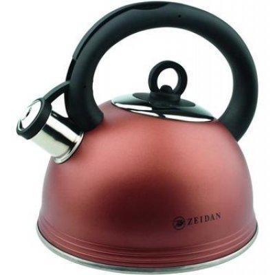 Чайник Zeidan Z-4038 шоколадный перламутр со свистком 2,5л (Z 4038 (шоколадн))Чайники Zeidan <br>Чайник изготовлен из высококачественной нержавеющей стали. 3-х слойное термоаккумулирующее дно обеспечивает быстрый нагрев воды в чайнике.Бакелитовые ручки чайника практически не нагреваются, а курковый механизм позволяет легко поднимать насадку-свисток нажатием кнопки на ручке чайника. Чайник имеет ...<br>