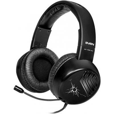 Наушники SVEN AP-895MV (SV-012656)Наушники SVEN<br>черный, для моб. устройств (4pin jack), выдвижной микрофон, адаптер для ПК<br>