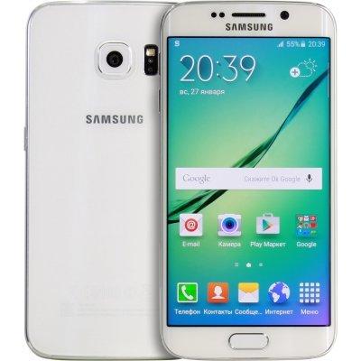Смартфон Samsung Galaxy S6 Edge SM-G925F 32Gb белый (SM-G925FZWASER)Смартфоны Samsung<br>моноблок 3G 4G 5.1 2560x1440 Android 5.0 16Mpix WiFi BT GPS GSM900/1800 GSM1900 TouchSc Ptotect MP3 microSDXC max128Gb<br>