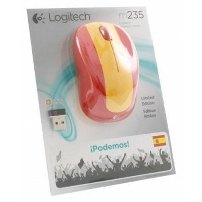 Мышь Logitech Wireless Mouse M235 910-004028 Red-Yellow USB (910-004028)
