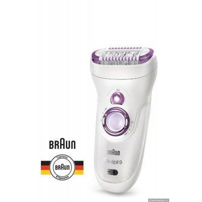 Эпилятор Braun 9-961 WD Spa (9-961 WD SPA)Эпиляторы Braun<br>насадок — 6шт, скоростей — 2, работа от аккумулятора, плавающая головка, подсветка, цвет — белый/фиолетовый<br>
