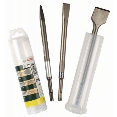 Набор принадлежностей Bosch 2607019457 (2607019457)Наборы принадлежностей Bosch<br>Набор зубил BOSCH 2607019457<br>Применяется для строительных и демонтажных работ<br>Особенности:<br>Пикообразное зубило 250 мм, Long Life<br>Плоское зубило 250х20 мм, Long Life<br>Лопаточное зубило 250х40 мм<br>