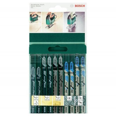Пилка для лобзика Bosch 2609256746 (2609256746) пилки для лобзика по металлу для прямых пропилов t318bf 2 шт 2 5 6 мм стандарт