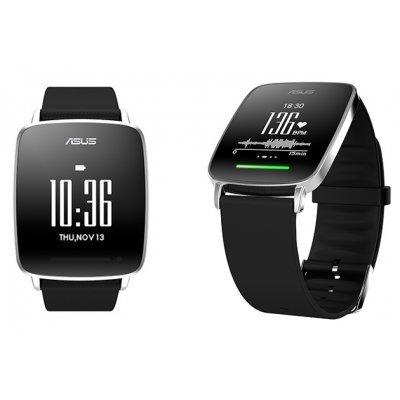 Умные часы ASUS VivoWatch (HC-A01) черный (90HC0021-M00H10)Умные часы ASUS<br>1.28 сенсорный экран 128 x 128/ Bluetooth/ поддерживемые ОС: Android 4.x/ материал: сталь, пластик/ цвет: черный<br>