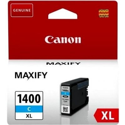 Картридж для струйных аппаратов Canon PGI-1400XL C для MAXIFY МВ2040 и МВ2340. Голубой. 900 страниц (9202B001) (9202B001)Картриджи для струйных аппаратов Canon<br>Картридж Canon PGI-1400XL C для MAXIFY МВ2040 и МВ2340. Голубой. 900 страниц.<br>