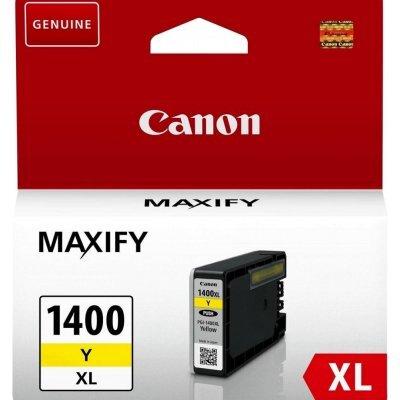 Картридж для струйных аппаратов Canon PGI-1400XL Y для MAXIFY МВ2040 и МВ2340, желтый (9204B001) (9204B001) картридж canon pgi 1400xl m для maxify мв2040 и мв2340 пурпурный 900 стр