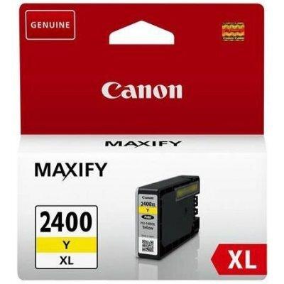 Картридж для струйных аппаратов Canon GI-2400XL Y для MAXIFY iB4040, МВ5040 и МВ5340, желтый (9276B001) (9276B001) картридж для струйных аппаратов canon pgi 2400xl c для maxify ib4040 мв5040 и мв5340 голубой 9274b001 9274b001