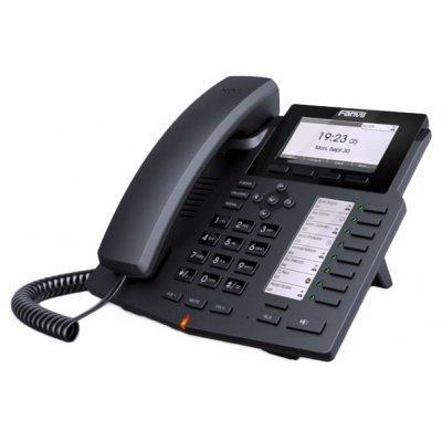 VoIP-телефон Fanvil X5 (X5)VoIP-телефоны Fanvil<br>Тип<br>    VoIP-телефон <br><br>Поддержка Skype<br>    нет <br><br>Поддержка SIP<br>    есть, подключение к нескольким серверам <br><br>Интерфейсы<br>    WAN, LAN <br><br>Подключение гарнитуры<br>    есть <br><br>Количество линий<br>    6 <br><br>Функции<br><br>Встроенная телефонная книга<br>    есть <br><br>Поддержка PoE<br>    есть <br><br>Эхокомпенсация<br>    есть <br><br>Определи ...<br>