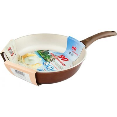 Сковорода Нева-Металл PC 126 26 см Коралл (PC 126)Сковороды Нева-Металл<br>Литой корпус универсальной формы позволяет выполнять широкий спектр действий по приготовлению блюд: жарка, тушение, припускание, томление, пассерование.<br>На светлом покрытии удобно контролировать процесс приготовления – проще оценивать степень готовности, заметнее мелкие подгоревшие кусочки, лучше оц ...<br>