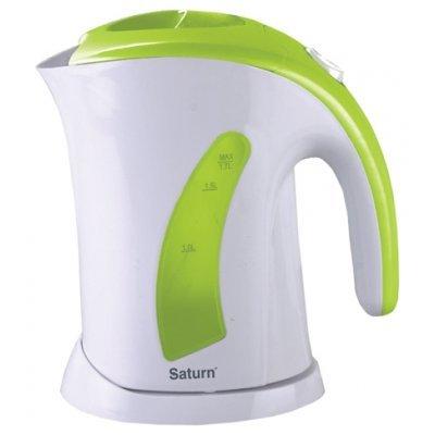 Электрический чайник Saturn ST-EK 0002 (ST-EK 0002 W/Blue)Электрические чайники Saturn <br>Тип<br>    чайник <br><br>Объем<br>    1.7 л <br><br>Мощность<br>    2000 Вт <br><br>Тип нагревательного элемента<br>    открытая спираль <br><br>Материал корпуса<br>    пластик <br><br>Особенности<br><br>Безопасность<br>    блокировка крышки, блокировка включения без воды <br><br>Фильтр<br>    есть <br><br>Индикатор уровня воды<br>    есть <br><br>Отсек для шнура<br>    есть <br><br> ...<br>