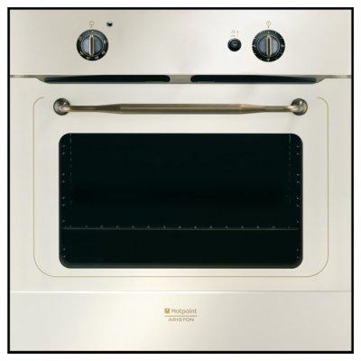 Газовый духовой шкаф Hotpoint-Ariston FHR G (OW) (7OFHR G (OW)RU/HA)Газовые духовые шкафы Hotpoint-Ariston<br>газовая независимая духовка<br>    60 х 60 x 56 см<br>    поворотные переключатели<br>    гриль<br>