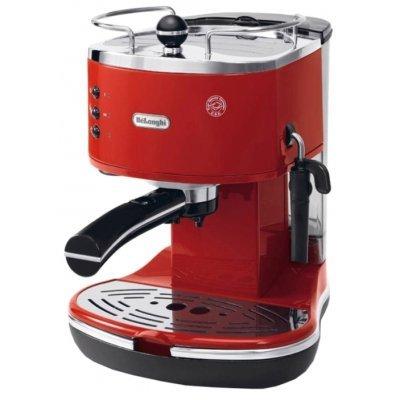 Кофеварка Delonghi ECO 311 R (ECO 311 R)Кофеварки Delonghi<br>кофеварка эспрессо полуавтоматическая для молотого кофе и в таблетках ручное приготовление капучино отключение при неиспользовании одновременная раздача на 2 чашки<br>