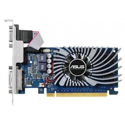Видеокарта ПК ASUS GeForce GT 730 902Mhz PCI-E 2.0 2048Mb 5010Mhz 64 bit DVI HDMI HDCP (GT730-2GD5-BRK)Видеокарты ПК ASUS<br>видеокарта NVIDIA GeForce GT 730 2048 Мб видеопамяти GDDR5 частота ядра/памяти: 902/5010 МГц разъемы DVI, HDMI, VGA поддержка DirectX 12, OpenGL 4.4 работа с 3 мониторами<br>