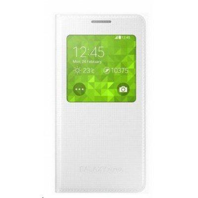 Чехол для смартфона Samsung S View Cover для Galaxy Alpha G850, белый (EF-CG850BWEGRU) чехол samsung flip cover ef fg850bsegru для samsung galaxy alpha sm g850 полиуретан серебристый