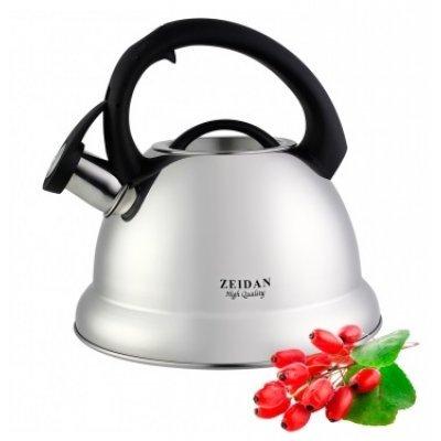 Чайник Zeidan Z 4096 (Z 4096)Чайники Zeidan <br>Объем:3,0; .изготовлен из высококачественной нержавеющей стали 18/10, которая чрезвычайно устойчива к коррозии, воздействию разного рода кислот и щелочей (не окисляется); благодаря нержавеющей стали чайник надолго сохранит отменные эксплуатационные характеристики и прекрасный внешний вид; трехслойно ...<br>