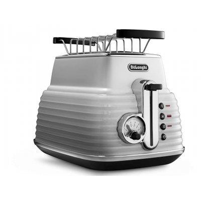 Тостер Delonghi CTZ 2103 белый (CTZ 2103 W)Тостеры Delonghi<br>тостер на 2 тоста мощность 900 Вт механическое управление функция размораживания металлический прочный корпус<br>