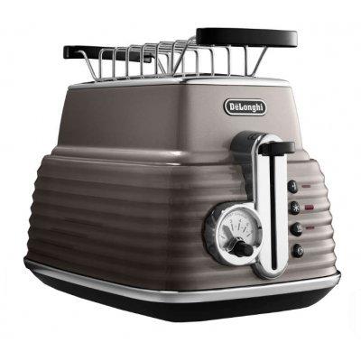 Тостер Delonghi CTZ 2103 бежевый (CTZ 2103 BG)Тостеры Delonghi<br>тостер на 2 тоста мощность 900 Вт механическое управление функция размораживания металлический прочный корпус<br>
