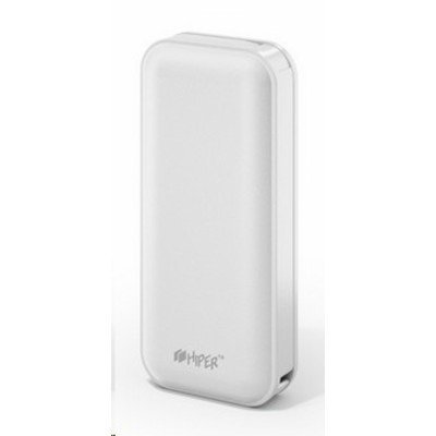 Внешний аккумулятор для портативных устройств HIPER SP5000 белый (SP5000 White)Внешние аккумуляторы для портативных устройств HIPER<br>аккумулятор емкостью 5000 мАч<br>    одновременная зарядка двух устройств<br>    максимальный ток 2.1 А<br>    разъем USB<br>    переходник на micro USB<br>    вес 125 г<br>
