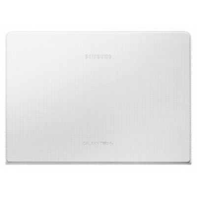 Чехол для планшета Samsung Simple Cover для Galaxy Tab S 10.5 Белый EF-DT800BWEGRU (EF-DT800BWEGRU)Чехлы для планшетов Samsung<br>Чехол-обложка Simple Cover для Tab S 10.5 SM-T800 /  10.5 SM-T805 выполнена из качественного материала имитирующего кожу. Самый тонкий и лёгкий чехол для Galaxy Tab S с защитой дисплея. Оригинальная конструкция крепления надёжно держит обложку на планшете, достаточно вставить специальные защёлки в о ...<br>
