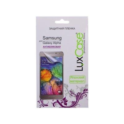 Пленка защитная для смартфонов LuxCase для Samsung Galaxy Alpha (антибликовая) (52519)