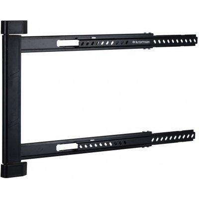 Кронштейн для ТВ и панелей Kromax LEDAS-90 (LEDAS-90)Кронштейн для ТВ и панелей Kromax<br>Кронштейн Kromax LEDAS-90 black для LED/LCD ТV 32-65,  45 кг, настенный, 1 ст свободы, поворот 180<br>