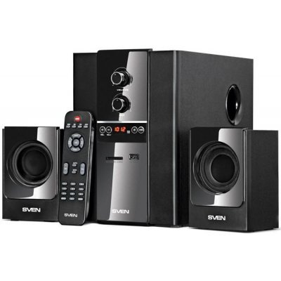 Компьютерная акустика SVEN MS-1820 2.1 черный 40Вт (SV-01301820BK)Компьютерная акустика SVEN<br>акустический тип: 2.1; выходная мощность (RMS) 40Вт; магнитное экранирование; регуляторы напередней панели; питание отсети; тип акустики: стационарная; цвет: черный<br>