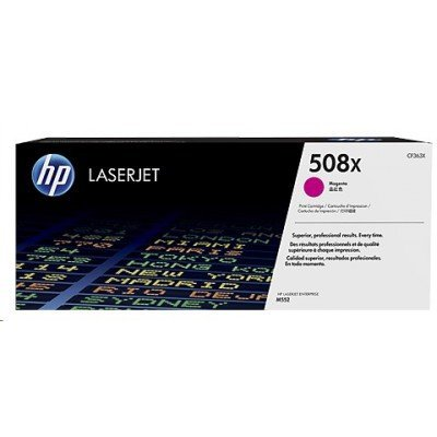 Тонер-картридж для лазерных аппаратов HP CF363X 508X пурпурный (CF363X)Тонер-картриджи для лазерных аппаратов HP<br>Тонер-картриджи HP CF363X увеличенной емкости пурпурный HP 508X Для принтеров HP Color LaserJet Enterprise M552/ M553<br>
