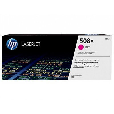 Тонер-картридж для лазерных аппаратов HP CF363A 508A пурпурный (CF363A)Тонер-картриджи для лазерных аппаратов HP<br>Kартридж Hewlett-Packard HP 508A Magenta Original LaserJet Toner Cartridge (CF363A)<br>