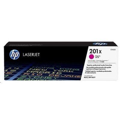Тонер-картридж для лазерных аппаратов HP CF403X 201X пурпурный (CF403X)Тонер-картриджи для лазерных аппаратов HP<br>201X High Capacity Magenta Original LaserJet Toner Cartridge<br>