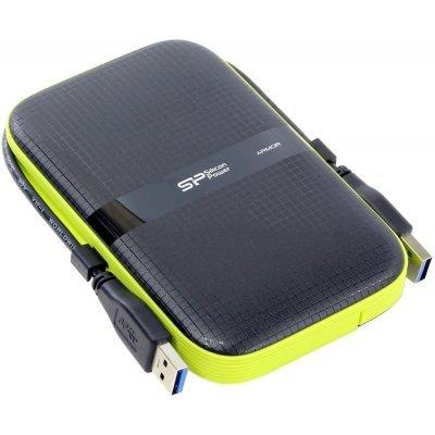 Внешний жесткий диск Silicon Power 500Gb USB 3.0 SP500GBPHDA60S3K 2.5 черный (SP500GBPHDA60S3K)Внешние жесткие диски Silicon Power<br>объём: 500Гб; портативный; интерфейс USB 3.0; форм-фактор 2.5; материал корпуса: пластик; противоударный; водостойкий<br>