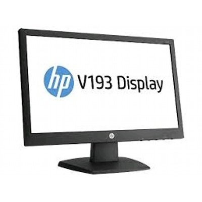 Монитор HP 18.5 V193 (G9W86AA) черный (G9W86AA)Мониторы HP<br>TN+film LED 5ms 16:9 матовая 200cd 90гр/65гр 1366x768 D-Sub 2.7кг<br>