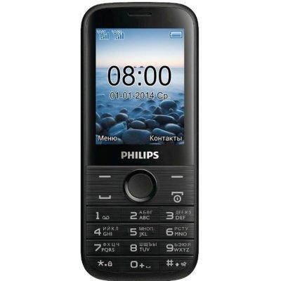 Мобильный телефон Philips E160 черный (8712581729615) (8712581729615)Мобильные телефоны Philips<br>моноблок 2Sim 2.4 240x320 0.3Mpix BT GSM900/1800 GSM1900 MP3 FM microSDHC max32Gb<br>