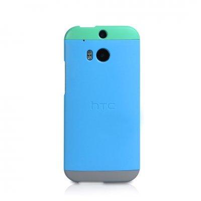 Чехол для смартфона HTC для M8 Double Dip Hard Shell (99H11417-00)Чехлы для смартфонов HTC<br>Чехол для HTC M8 Double Dip Hard Shell (HC C940) (blue body, green top, grey bottom)<br>