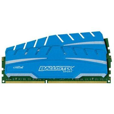 Модуль оперативной памяти ПК Crucial BLS2C8G3D18ADS3CEU (BLS2C8G3D18ADS3CEU)Модули оперативной памяти ПК Crucial<br>Crucial 16GB Kit (8GBx2) DDR3 1866 MT/s (PC3-14900) CL10 @1.5V Ballistix Sport XT UDIMM 240pin<br>
