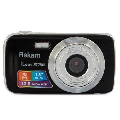Цифровая фотокамера Rekam iLook S750i черный 1 (1108005091) (1108005091) rekam ilook s970i black цифровая фотокамера